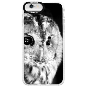 Silikonové pouzdro Bumper iSaprio BW Owl na mobil Apple iPhone 6 Plus/6S Plus