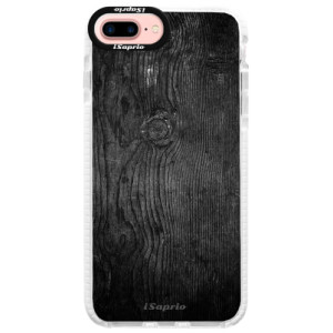 Silikonové pouzdro Bumper iSaprio Black Wood 13 na mobil Apple iPhone 7 Plus