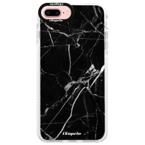 Silikonové pouzdro Bumper iSaprio Black Marble 18 na mobil Apple iPhone 7 Plus