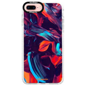 Silikonové pouzdro Bumper iSaprio Color Marble 19 na mobil Apple iPhone 7 Plus