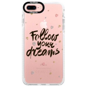 Silikonové pouzdro Bumper iSaprio Follow Your Dreams black na mobil Apple iPhone 7 Plus