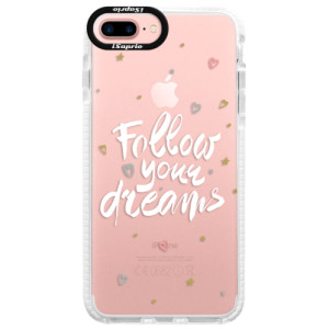 Silikonové pouzdro Bumper iSaprio Follow Your Dreams white na mobil Apple iPhone 7 Plus