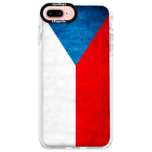 Silikonové pouzdro Bumper iSaprio Czech Flag na mobil Apple iPhone 7 Plus