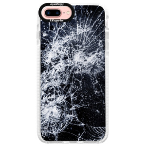 Silikonové pouzdro Bumper iSaprio Cracked na mobil Apple iPhone 7 Plus