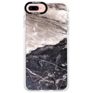 Silikonové pouzdro Bumper iSaprio BW Marble na mobil Apple iPhone 7 Plus