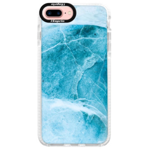 Silikonové pouzdro Bumper iSaprio Blue Marble na mobil Apple iPhone 7 Plus