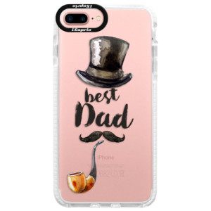 Silikonové pouzdro Bumper iSaprio Best Dad na mobil Apple iPhone 7 Plus