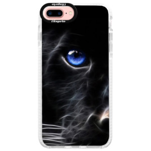 Silikonové pouzdro Bumper iSaprio Black Puma na mobil Apple iPhone 7 Plus