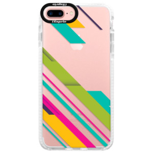 Silikonové pouzdro Bumper iSaprio Color Stripes 03 na mobil Apple iPhone 7 Plus