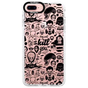 Silikonové pouzdro Bumper iSaprio Comics 01 black na mobil Apple iPhone 7 Plus