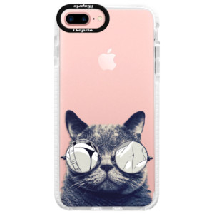 Silikonové pouzdro Bumper iSaprio Crazy Cat 01 na mobil Apple iPhone 7 Plus