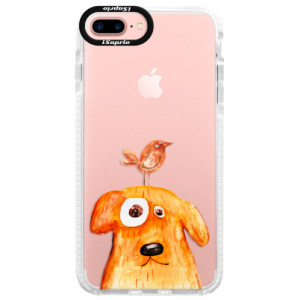 Silikonové pouzdro Bumper iSaprio Dog And Bird na mobil Apple iPhone 7 Plus