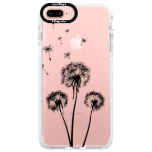 Silikonové pouzdro Bumper iSaprio Three Dandelions black na mobil Apple iPhone 7 Plus
