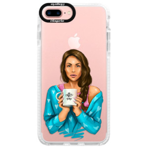 Silikonové pouzdro Bumper iSaprio Coffe Now Brunette na mobil Apple iPhone 7 Plus