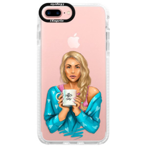 Silikonové pouzdro Bumper iSaprio Coffe Now Blond na mobil Apple iPhone 7 Plus