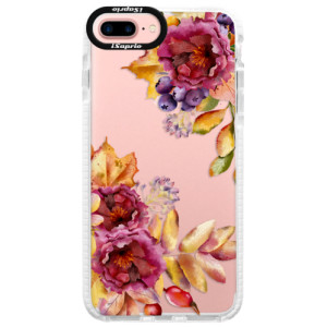 Silikonové pouzdro Bumper iSaprio Fall Flowers na mobil Apple iPhone 7 Plus