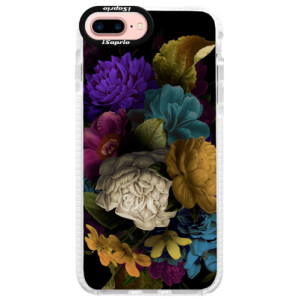 Silikonové pouzdro Bumper iSaprio Dark Flowers na mobil Apple iPhone 7 Plus