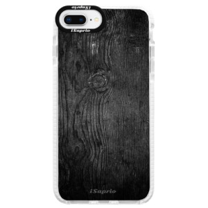 Silikonové pouzdro Bumper iSaprio Black Wood 13 na mobil Apple iPhone 8 Plus