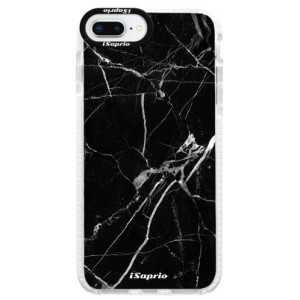 Silikonové pouzdro Bumper iSaprio Black Marble 18 na mobil Apple iPhone 8 Plus