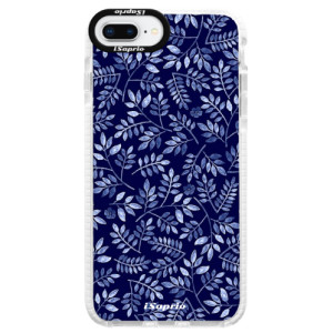 Silikonové pouzdro Bumper iSaprio Blue Leaves 05 na mobil Apple iPhone 8 Plus