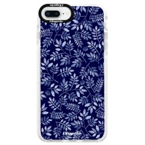 Silikonové pouzdro Bumper iSaprio Blue Leaves 05 na mobil Apple iPhone 8 Plus