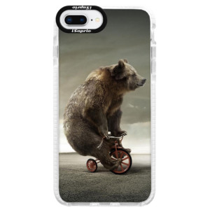 Silikonové pouzdro Bumper iSaprio Bear 01 na mobil Apple iPhone 8 Plus
