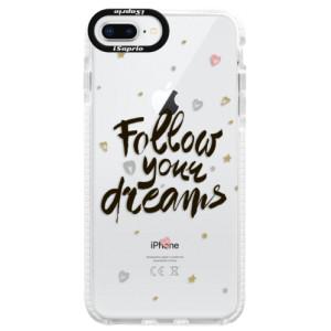 Silikonové pouzdro Bumper iSaprio Follow Your Dreams black na mobil Apple iPhone 8 Plus