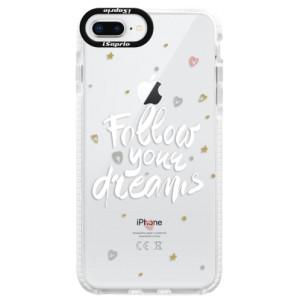 Silikonové pouzdro Bumper iSaprio Follow Your Dreams white na mobil Apple iPhone 8 Plus