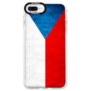 Silikonové pouzdro Bumper iSaprio Czech Flag na mobil Apple iPhone 8 Plus