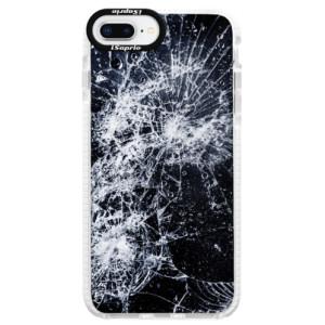 Silikonové pouzdro Bumper iSaprio Cracked na mobil Apple iPhone 8 Plus