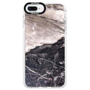 Silikonové pouzdro Bumper iSaprio BW Marble na mobil Apple iPhone 8 Plus
