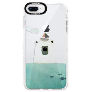 Silikonové pouzdro Bumper iSaprio Bear With Boat na mobil Apple iPhone 8 Plus