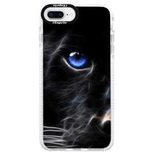 Silikonové pouzdro Bumper iSaprio Black Puma na mobil Apple iPhone 8 Plus