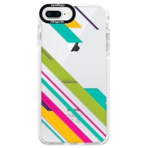 Silikonové pouzdro Bumper iSaprio Color Stripes 03 na mobil Apple iPhone 8 Plus