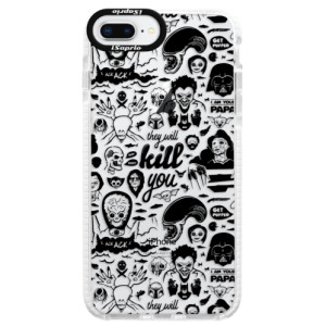Silikonové pouzdro Bumper iSaprio Comics 01 black na mobil Apple iPhone 8 Plus