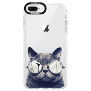 Silikonové pouzdro Bumper iSaprio Crazy Cat 01 na mobil Apple iPhone 8 Plus