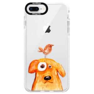 Silikonové pouzdro Bumper iSaprio Dog And Bird na mobil Apple iPhone 8 Plus