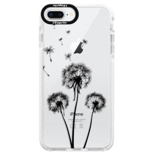 Silikonové pouzdro Bumper iSaprio Three Dandelions black na mobil Apple iPhone 8 Plus