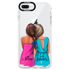 Silikonové pouzdro Bumper iSaprio Best Friends na mobil Apple iPhone 8 Plus