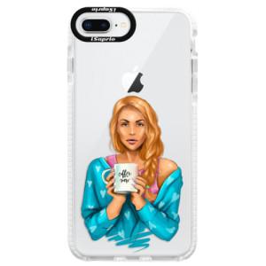 Silikonové pouzdro Bumper iSaprio Coffe Now Redhead na mobil Apple iPhone 8 Plus