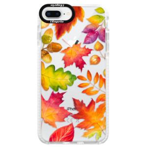 Silikonové pouzdro Bumper iSaprio Autumn Leaves 01 na mobil iPhone 8 Plus