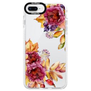 Silikonové pouzdro Bumper iSaprio Fall Flowers na mobil Apple iPhone 8 Plus