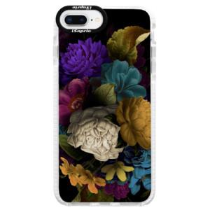 Silikonové pouzdro Bumper iSaprio Dark Flowers na mobil Apple iPhone 8 Plus