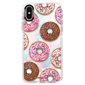 Silikonové pouzdro Bumper iSaprio Donuts 11 na mobil Apple iPhone X