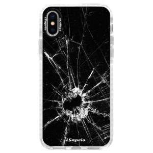 Silikonové pouzdro Bumper iSaprio Broken Glass 10 na mobil Apple iPhone X