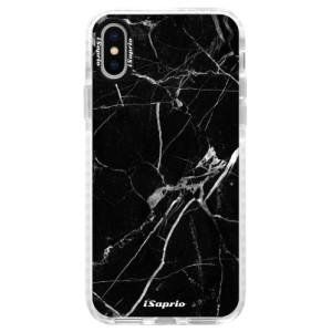 Silikonové pouzdro Bumper iSaprio Black Marble 18 na mobil Apple iPhone X