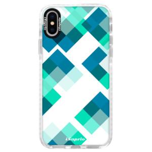 Silikonové pouzdro Bumper iSaprio Abstract Squares 11 na mobil iPhone X