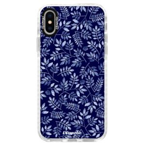 Silikonové pouzdro Bumper iSaprio Blue Leaves 05 na mobil Apple iPhone X
