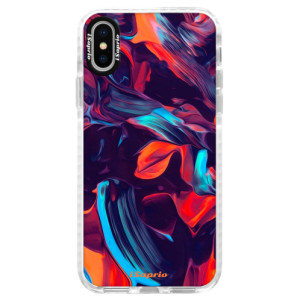Silikonové pouzdro Bumper iSaprio Color Marble 19 na mobil Apple iPhone X