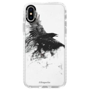 Silikonové pouzdro Bumper iSaprio Dark Bird 01 na mobil Apple iPhone X